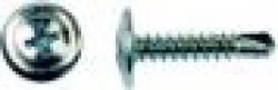 Полусферическая головка, Ph №2 , с прессшайбой, наконечник-сверло, оцинкованные