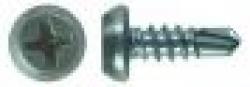 Полуцилиндрическая головка Ph № 2, наконечник-сверло, оцинкованный