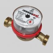 Крыльчатые бытовые счетчики холодной и горячей (универсальные) воды ВСКМ  в комплекте с монтажными частями Тmax +90° С