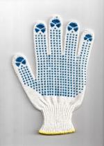 Перчатки  ПВХ точка, 7,5-й класс вязки 4-х нитка