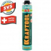 Пена KRAFTOOL KRAFTFLEX PREMIUM PRO 65 профессиональная, монтажная, пистолетная, всесезонная, 850 мл
