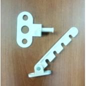 Гребёнка 4-х позиционная с метал. держателем,белая