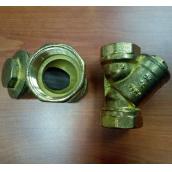 Фильтр косой ДУ32 ( 1 1/4 дюйма ), латунный осадочный, Цветлит