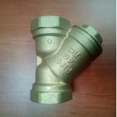 Фильтр косой ДУ40 ( 1 1/2 дюйма ), латунный осадочный, Цветлит