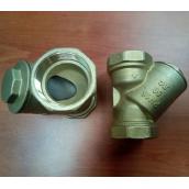 Фильтр косой ДУ50 ( 2 дюйма ), латунный осадочный, Цветлит