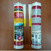 Герметик силикон универсальный 300мл белый Soudal ( высокотемпературный )
