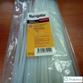 Хомут нейлоновый Navigator 100 шт, 3,6 мм х 300 мм, морозоустойчивый