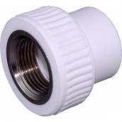 Муфта PP-R комбинированная белый нап ВР Дн 25x3/4