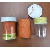 Шнур полипропиленовый строительный плетёный 2 мм оранжевый по 100 м в диспенсере