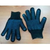 Перчатки х/б с протектором чёрные , плотные