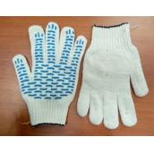 Перчатки х/б с протектором, плотные