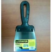 """Шпатель STAYER """"PROFESSIONAL"""", нержавеющее полотно, с пластмассовой ручкой, 100мм"""