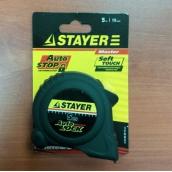 Рулетка измерительная STAYER 2-34126-05-19_Z01, MASTER AUTOLOCK, корпус с резиновым напылением, АВТОСТОП, 5 М Х 19 ММ