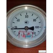 Термометр биметаллический МЕТЕР ТБ-063-1 120°С 80 мм 2,5 G1/2