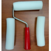 """Мини-валик """"РАДУГА"""" поролоновый в наборе 3 шубки + ручка, 40 (42)x140мм"""