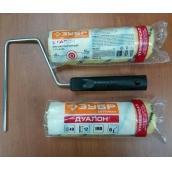 """Валик малярный ЗУБР """"ОПТИМА -ДУАЛОН"""", все виды ЛКМ, идеален для ЛКМ на масляной основе, для ровных поверхностей, полиэстр, ворс 12 мм, бюгель 6 мм, 40х180мм"""