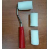 """Мини-валик """"РАДУГА"""" поролоновый в наборе 3 шубки + ручка, 40(42)x65мм"""